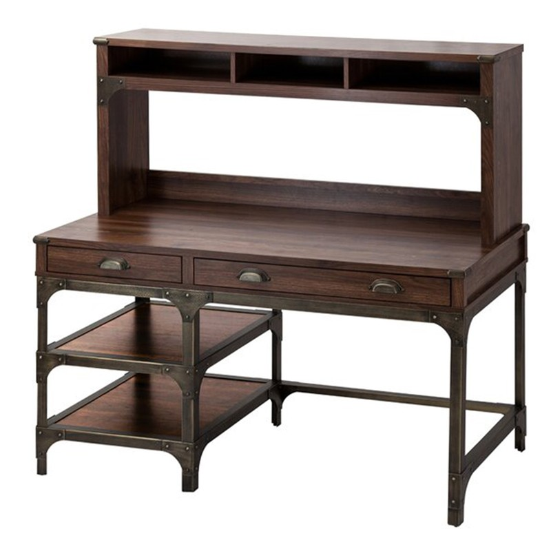 Logan Industrial Executive Desk with Hutch, 137cm