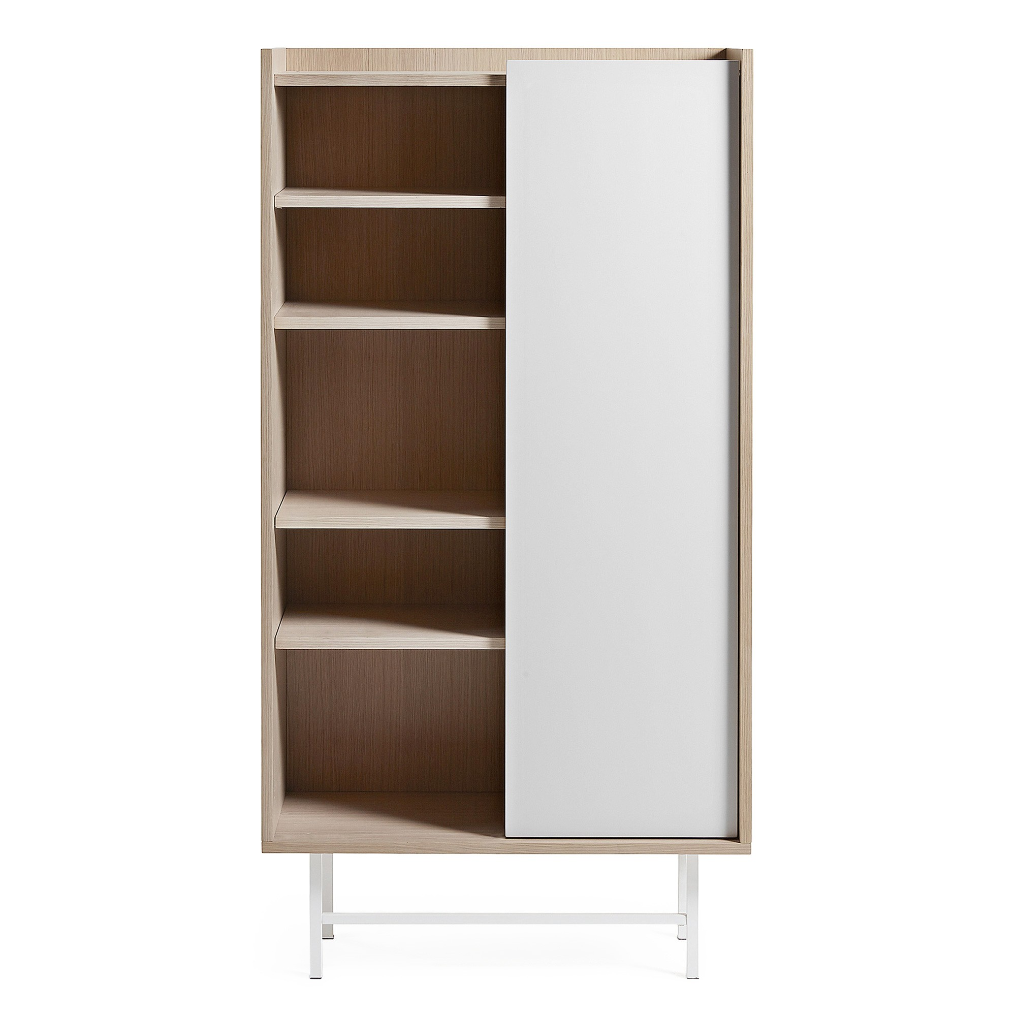 Buxton Sliding Door Bookcase / Display Cabinet