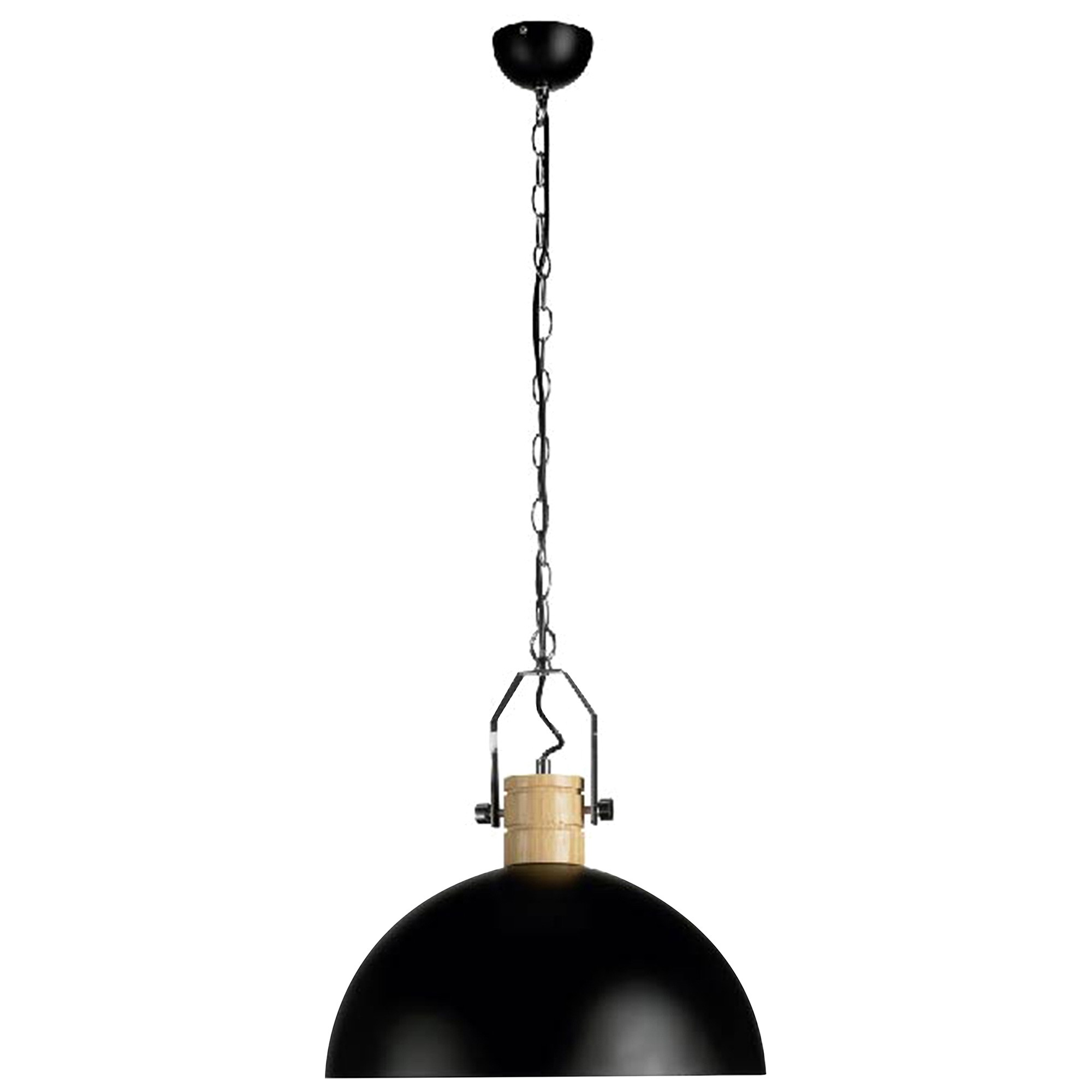 Oakton Iron Pendant Light, Black