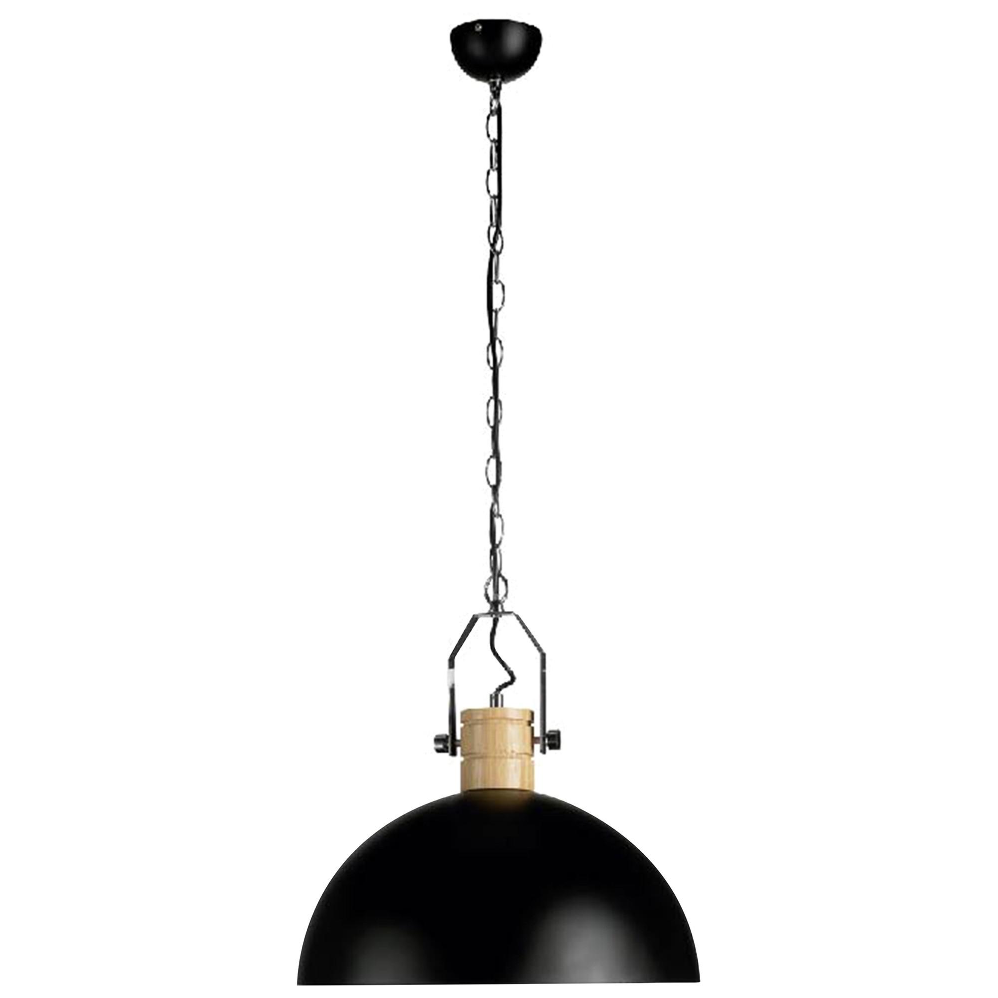 Oakton Iron Pendant Light, Black