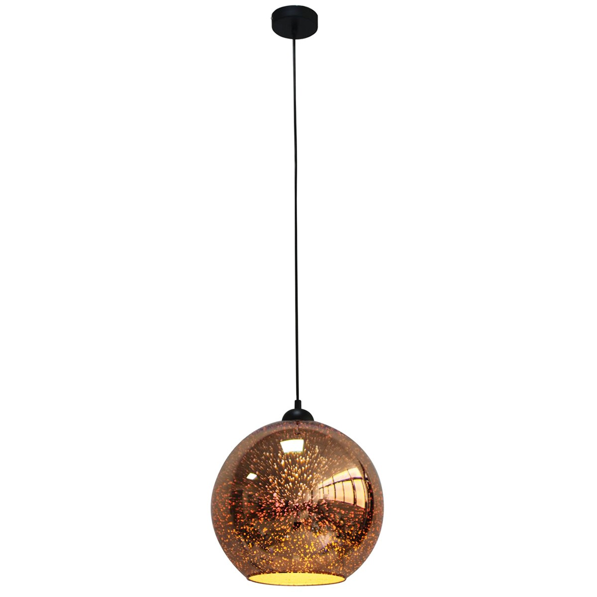 Javarone Glass Pendant Light, 30cm, Copper
