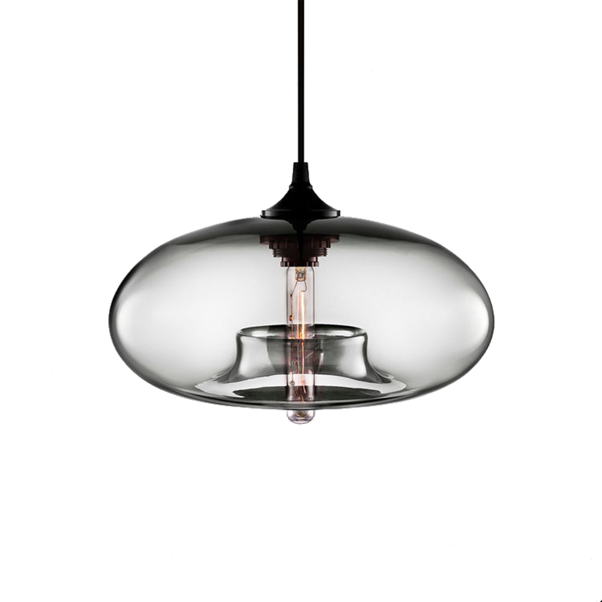 Mason Glass Pendant Light, Grey