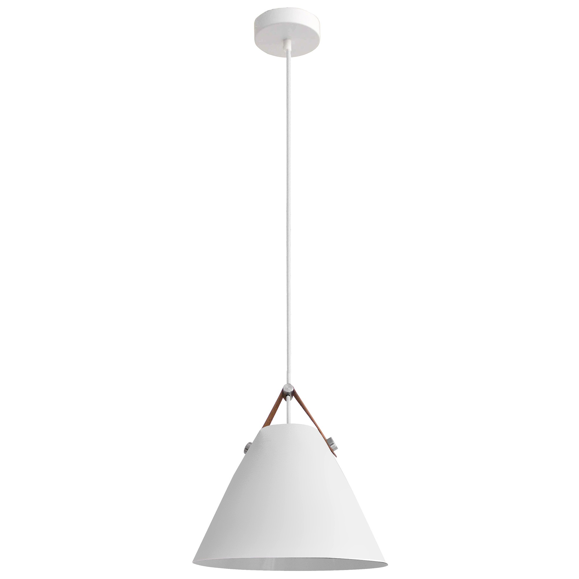Milano Metal Pendant Light, White