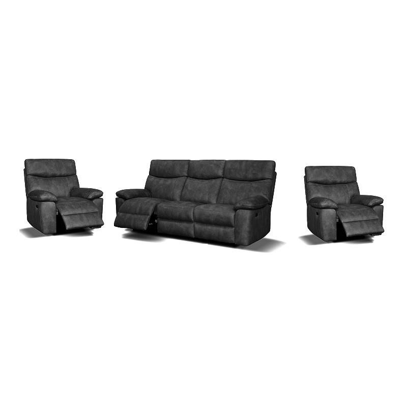Java 3+1+1 Leather Recliner Sofa Suite