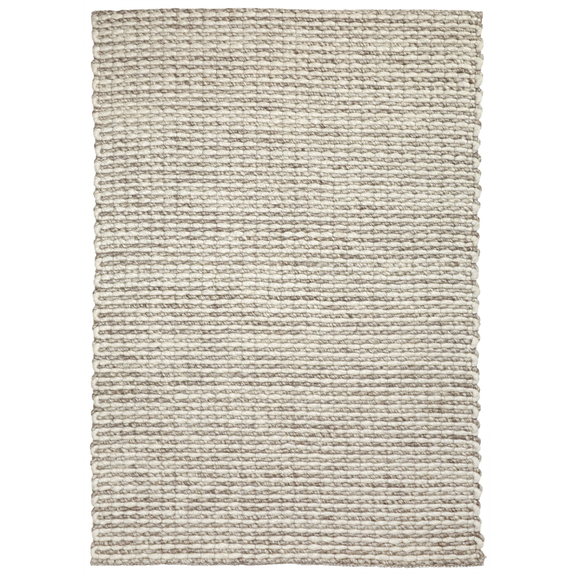 Lisbon Handwoven Wool Rug, 225x155cm, Ivory / Brown