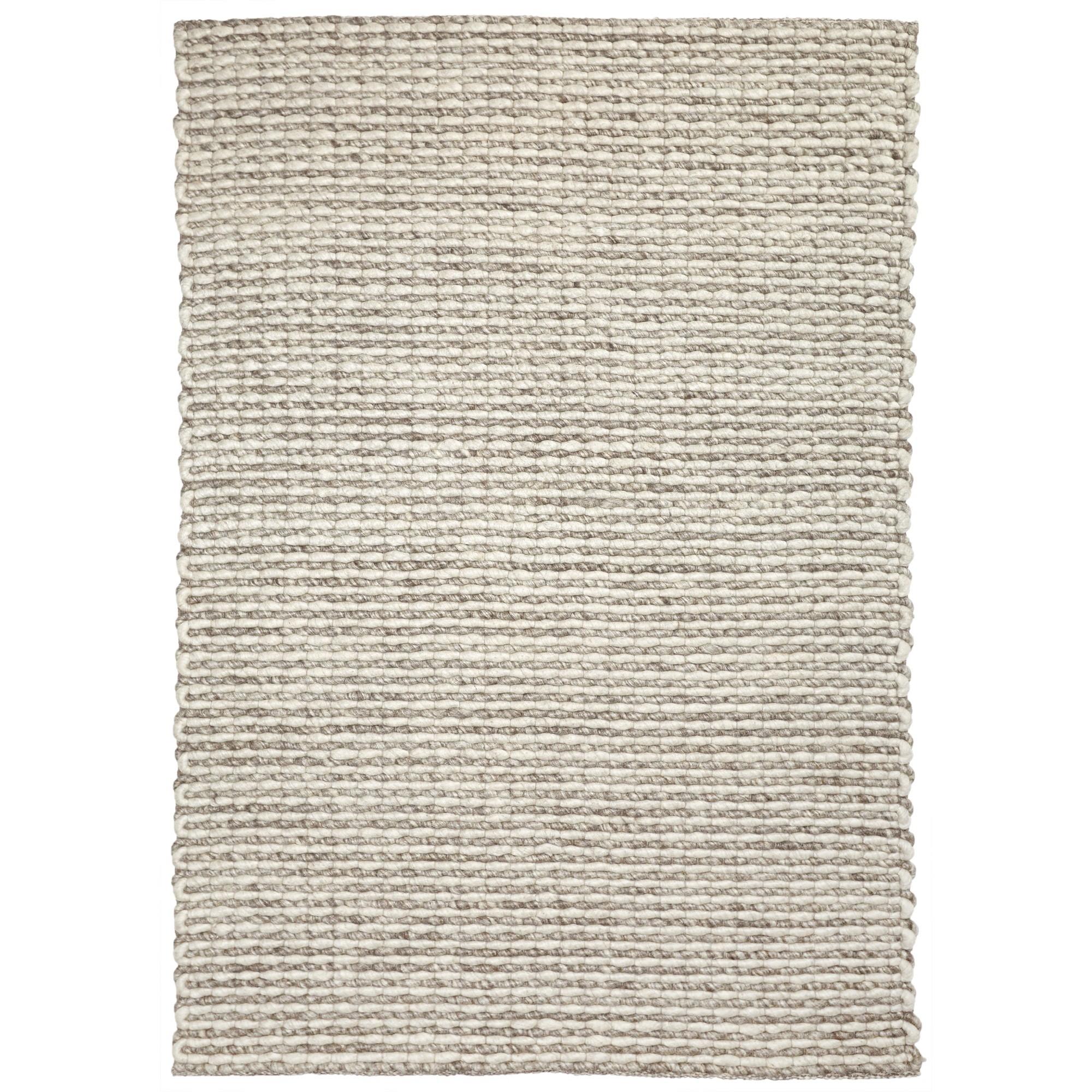 Lisbon Handwoven Wool Rug, 225x155cm, Ivory / Brown