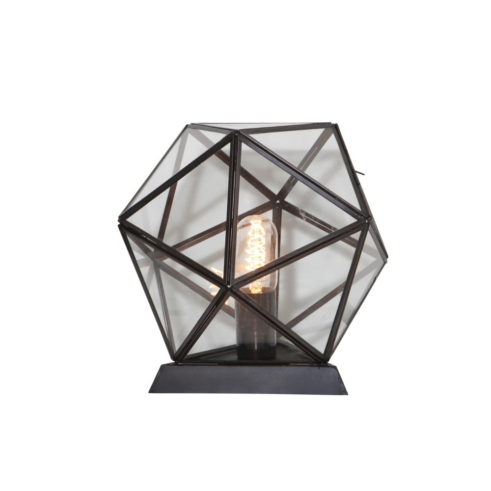 Lachlan Iron & Glass Table Lamp