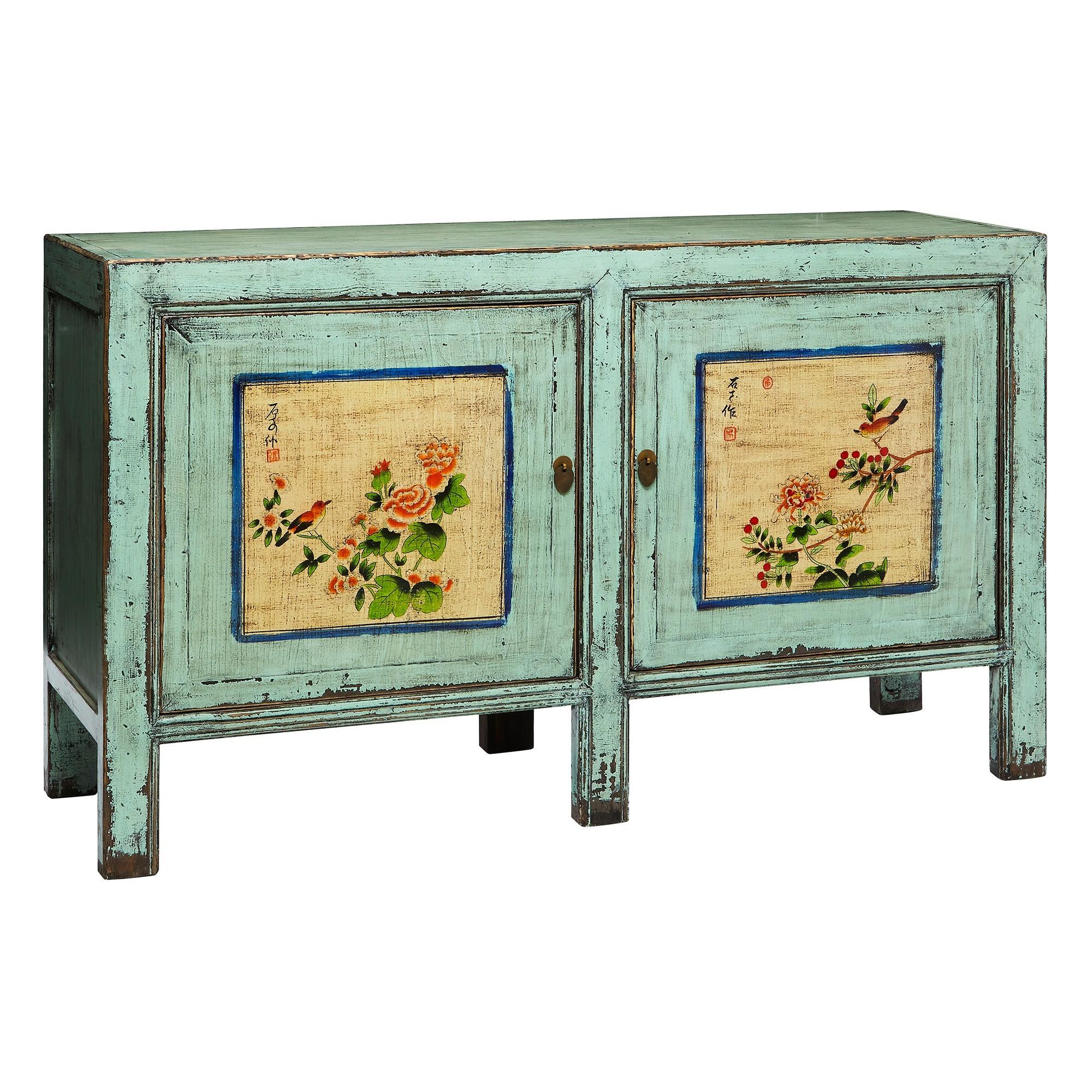 Milonas Pine Timber Oriental 2 Door Console Cabinet, 148cm