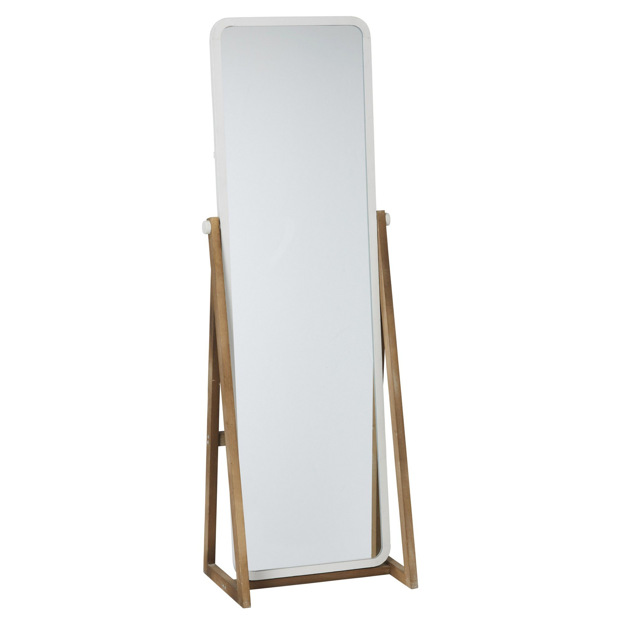 Thea Iron & Fir Timber Frame Cheval Mirror, 168cm