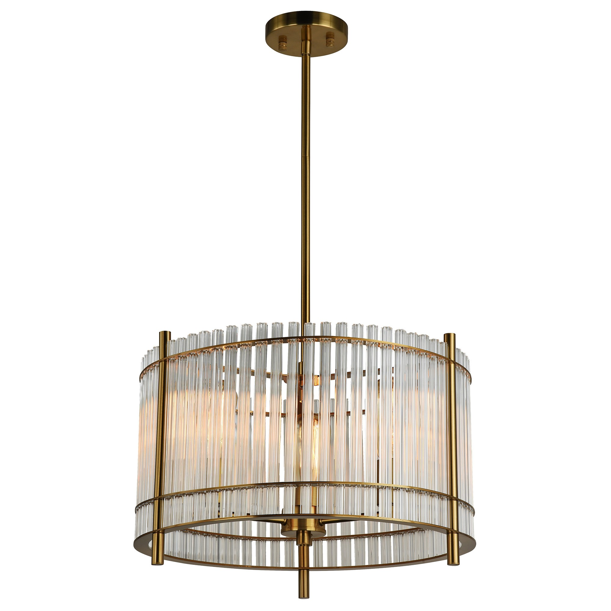 Indio Steel & Glass Pendant Light, Medium