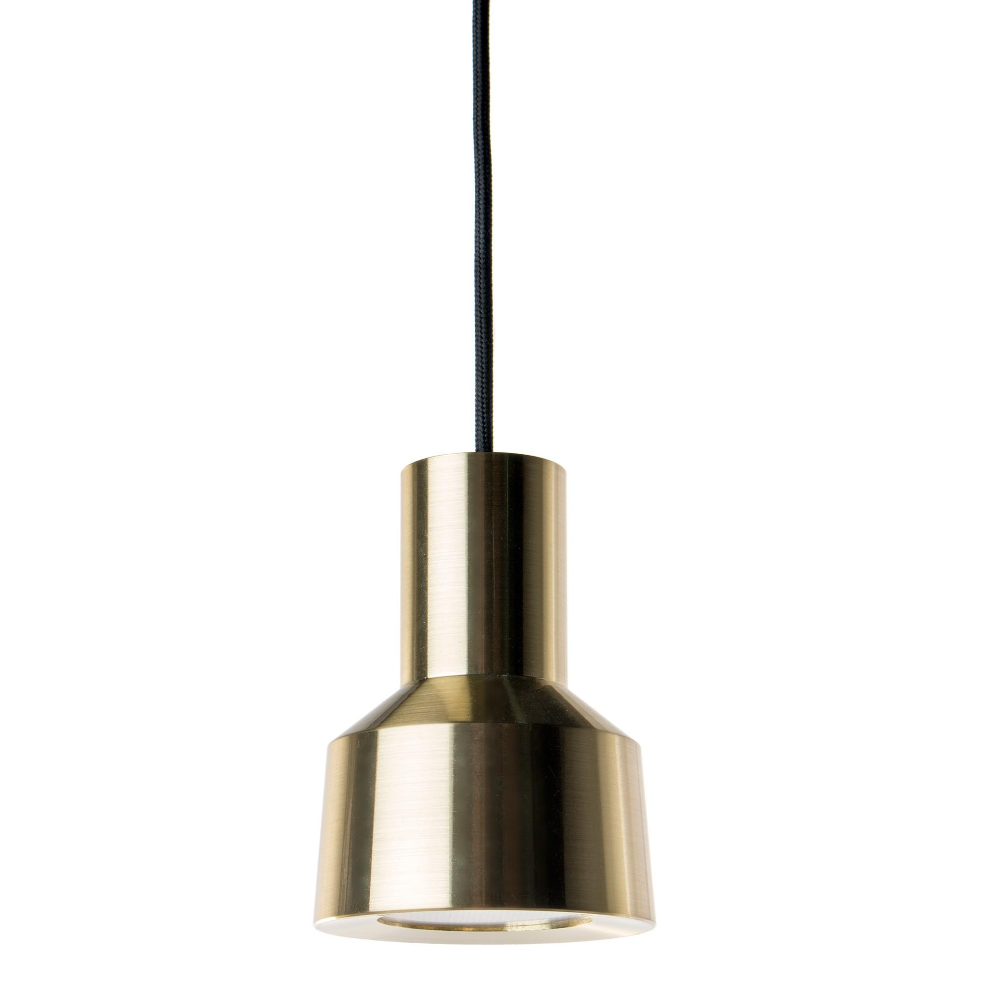 Neuron LED Metal Pendant Light, Brass