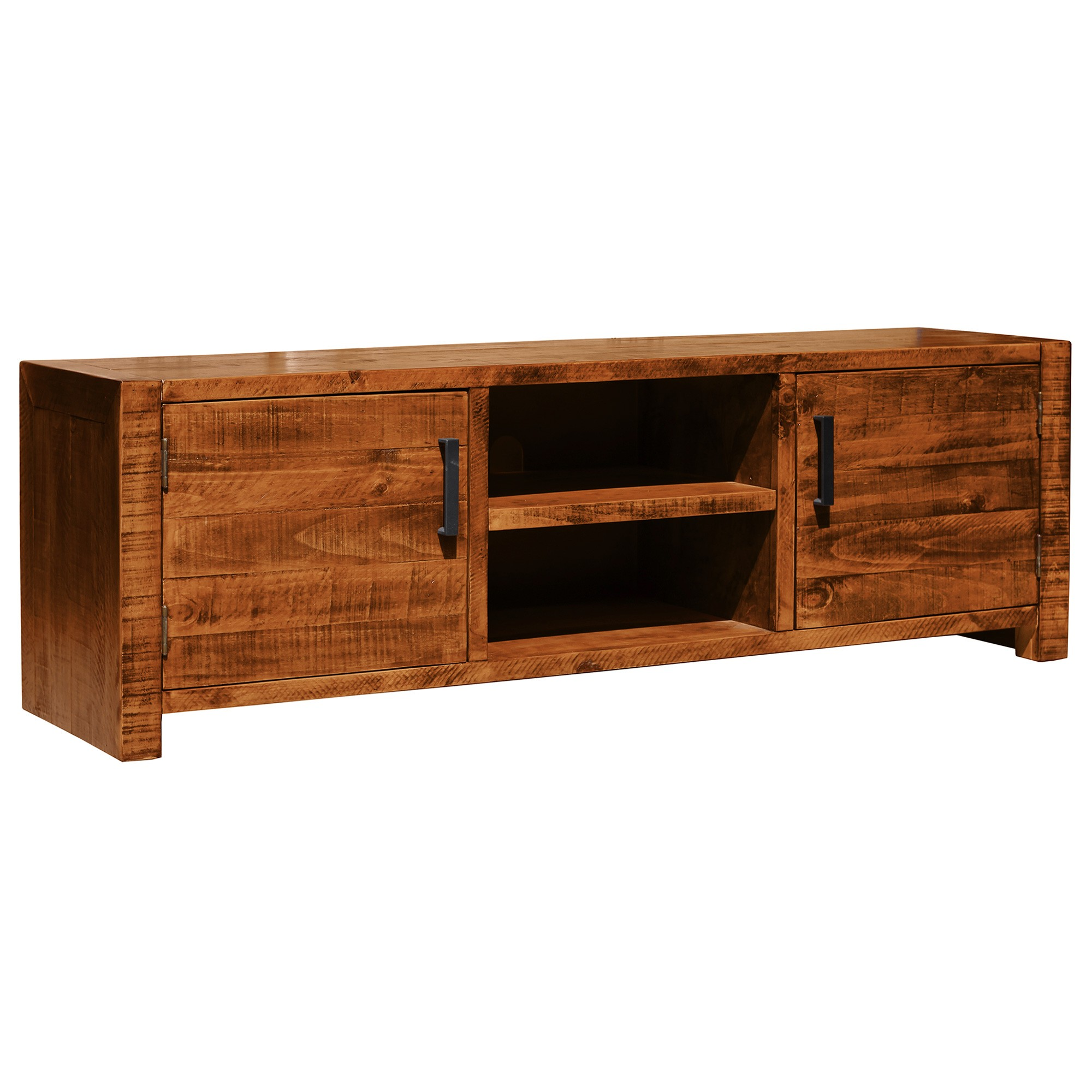 Arcadia Solid Timber 2 Door TV Unit, 160cm, Antique Barley