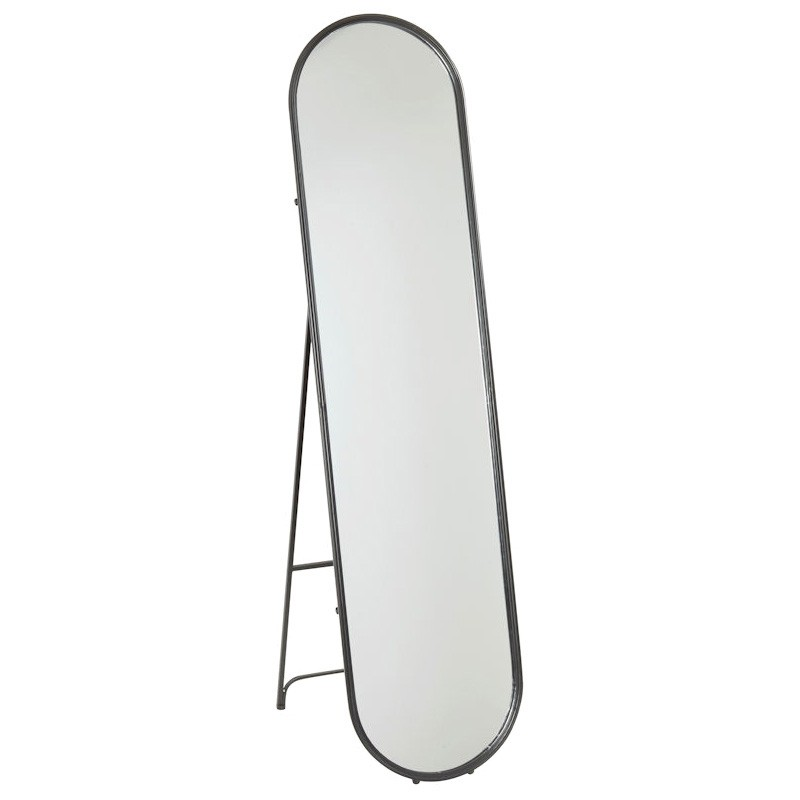 Harrow Iron Frame Free Standing Floor Mirror