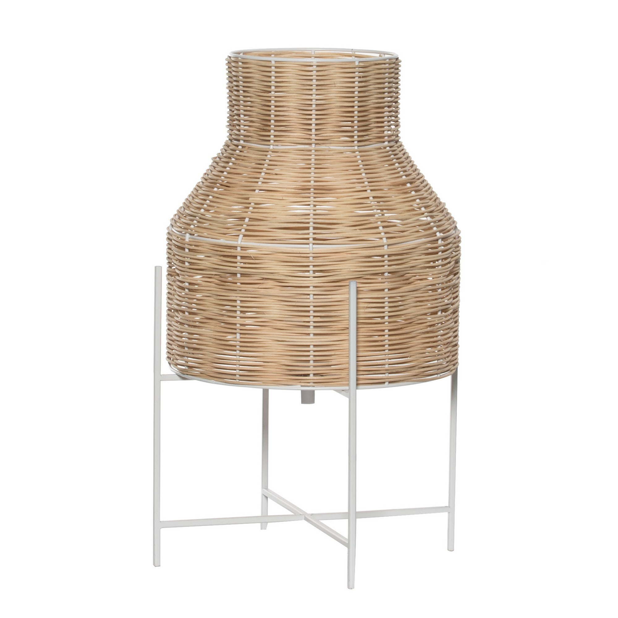 Grove Rattan & Metal Table Lamp