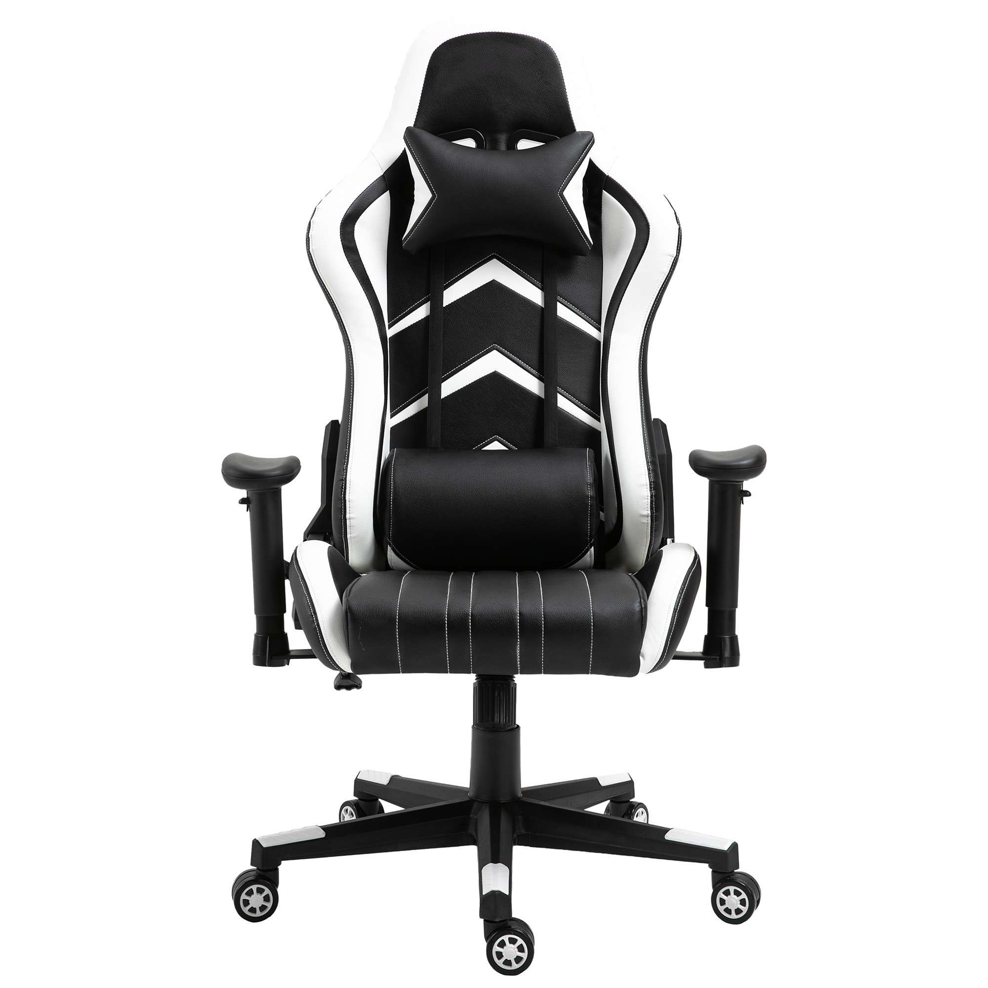 Cytron PU Leather Gaming Chair, Black / White