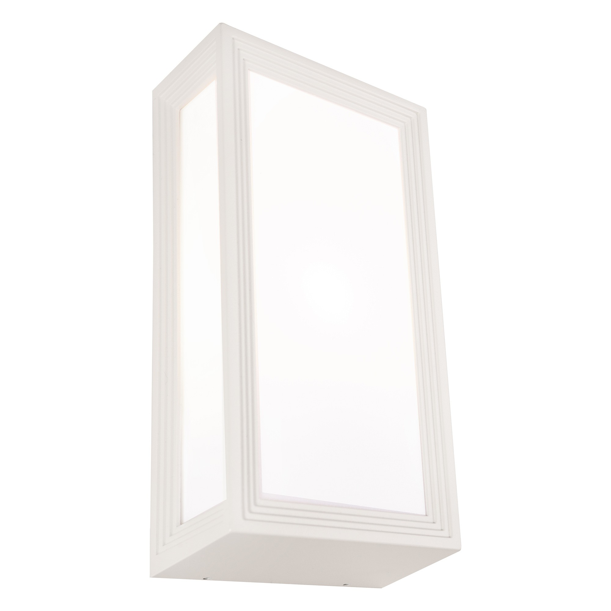 Lyon IP54 Exterior Wall Light, White