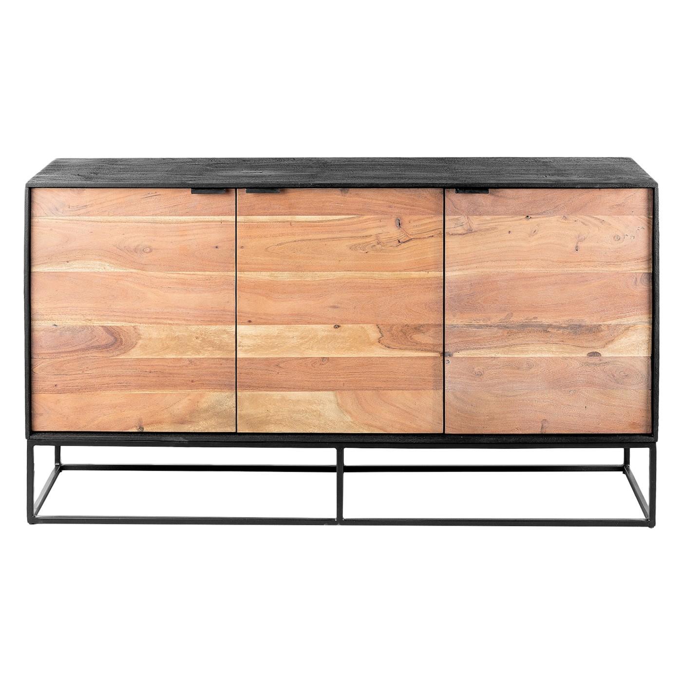 Luca Metal & Timber 3 Door Sideboard, 145cm