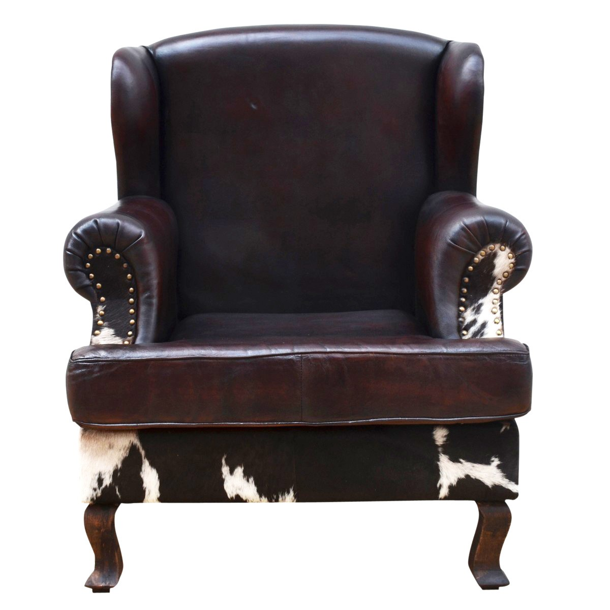 The Ranch Cowhide & Vintage Leather Lounge Armchair