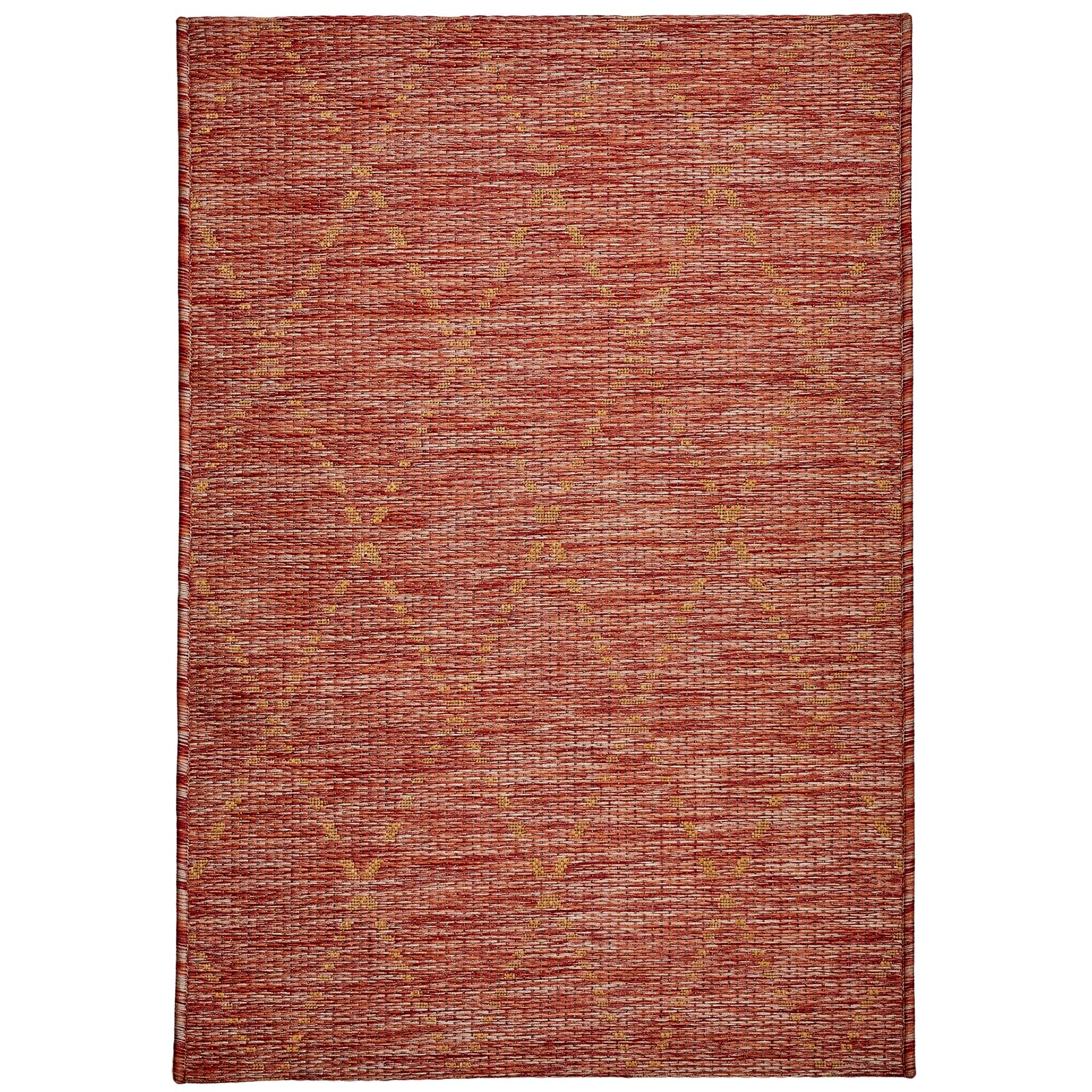 Magic No.301 Modern Tribal Indoor / Outdoor Rug, 290x200cm, Red