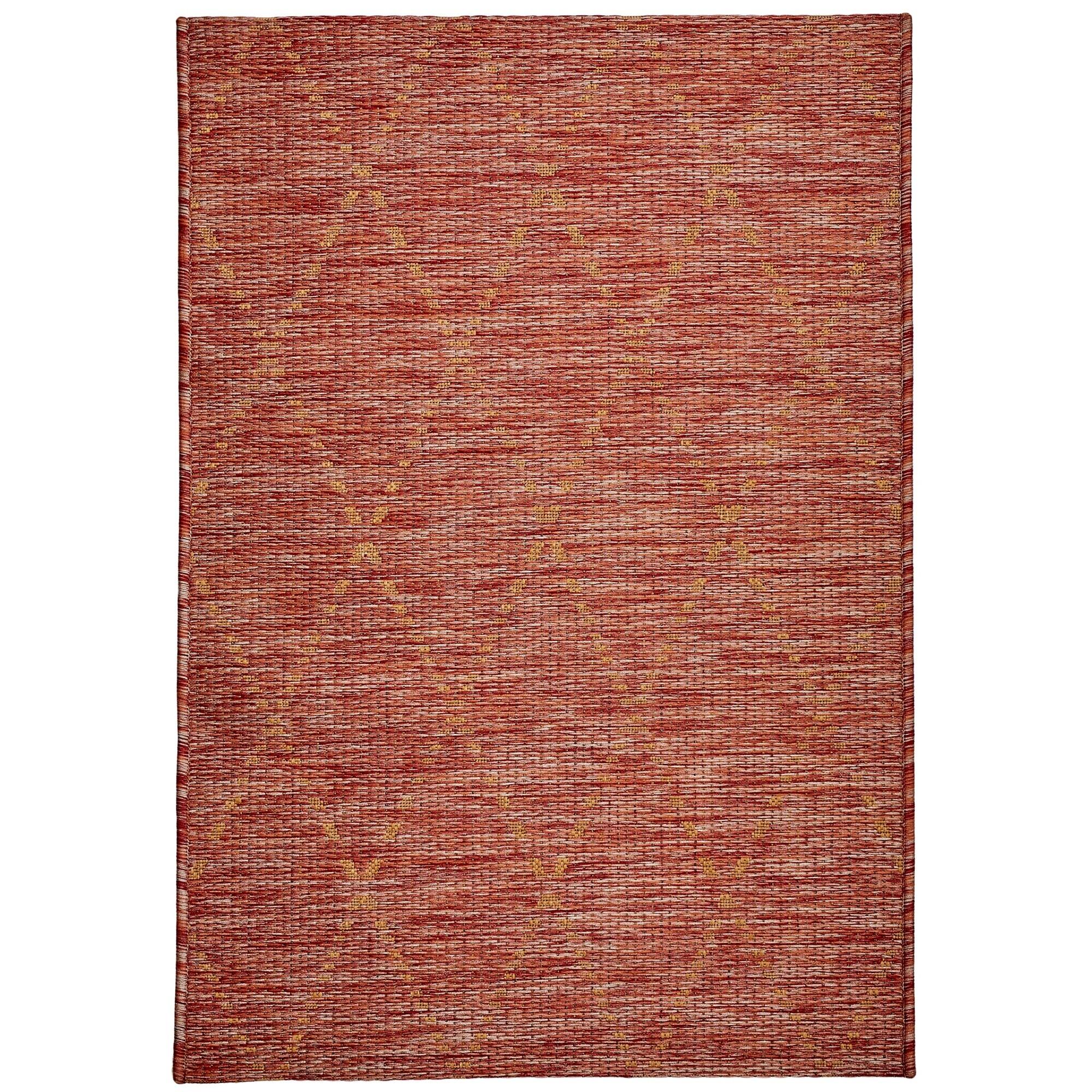 Magic No.301 Modern Tribal Indoor / Outdoor Rug, 290x200cm, Red