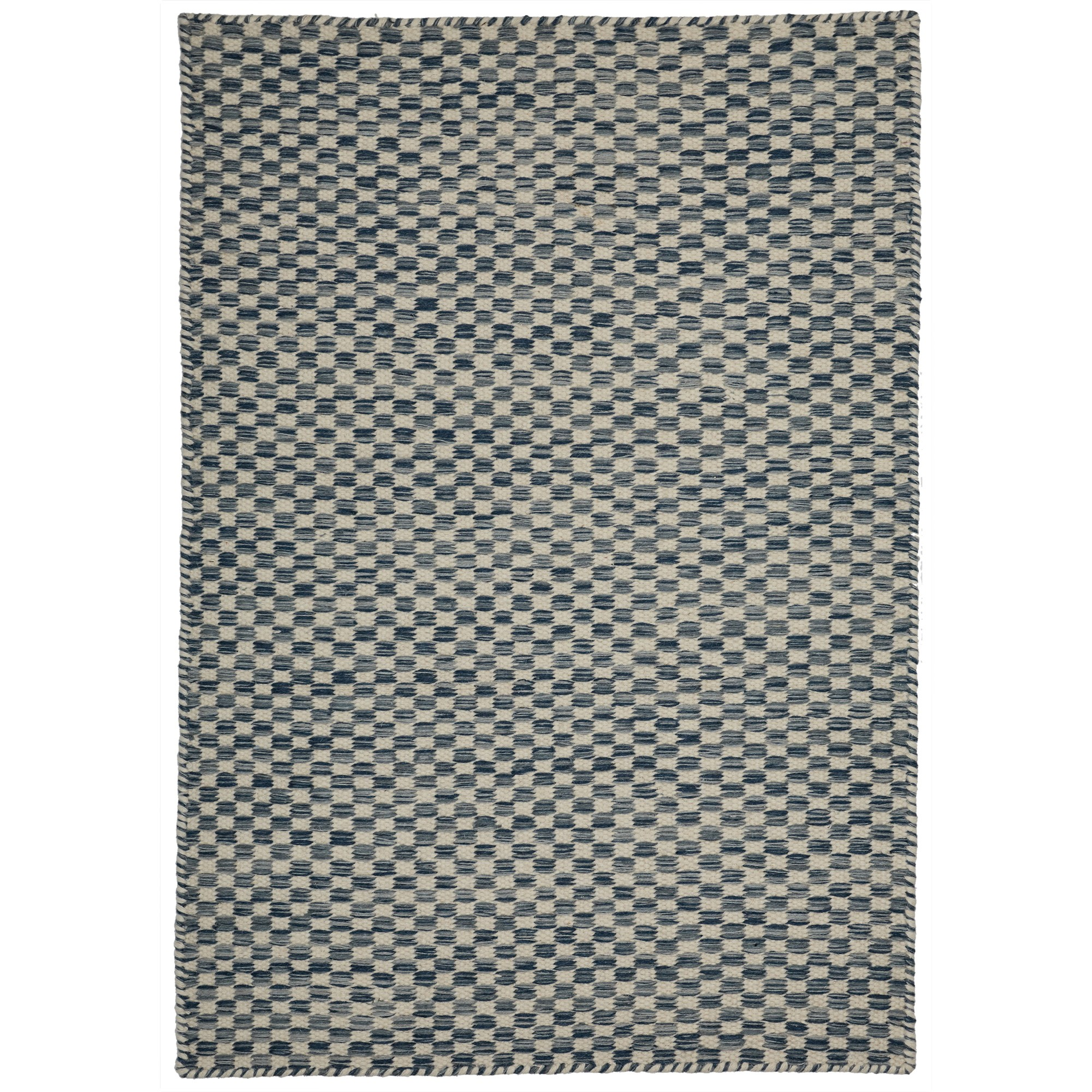 Madrid Handcrafted Modern Wool Rug, 330x240cm, Blue / Ivory