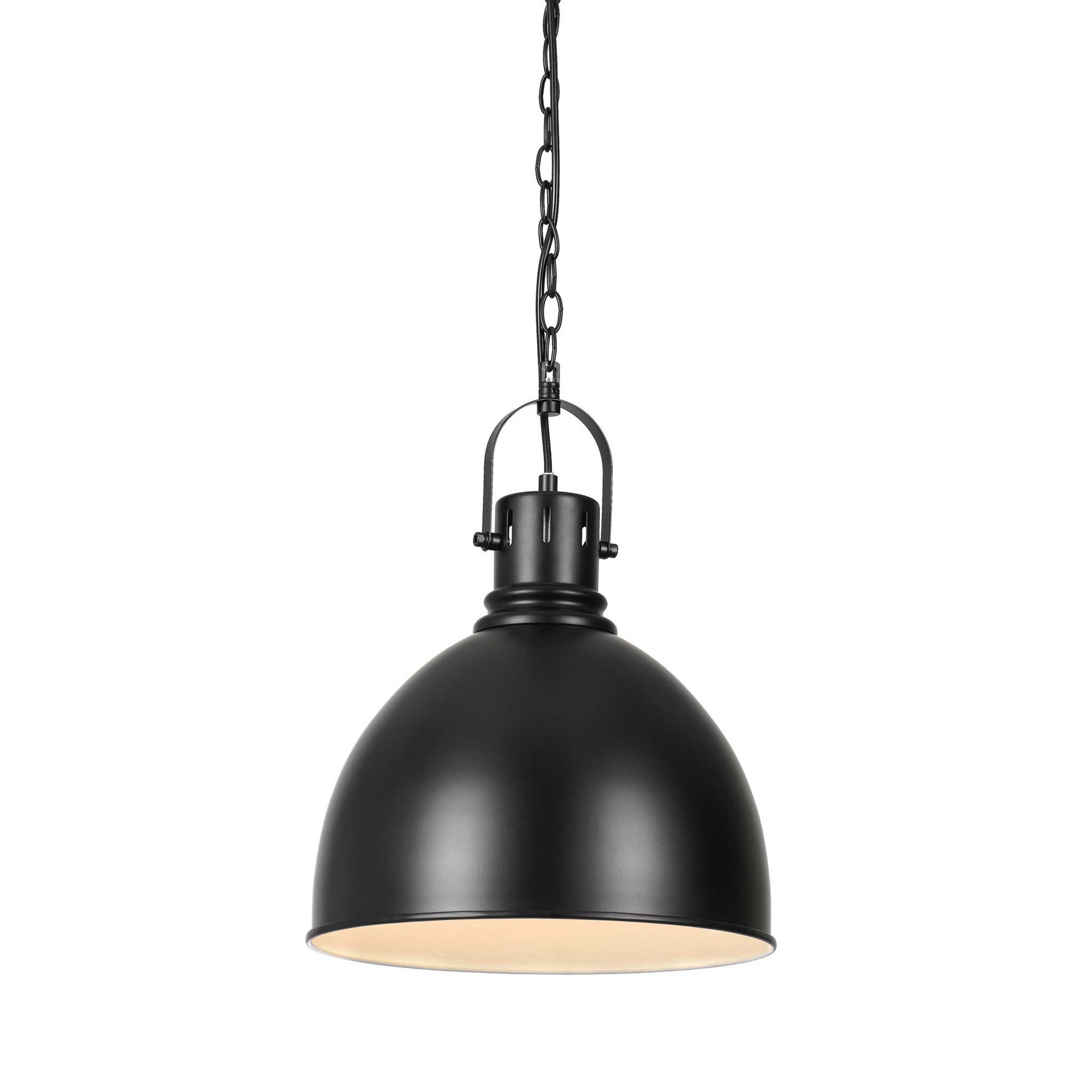 Market Metal Industrial Pendant Light, Black