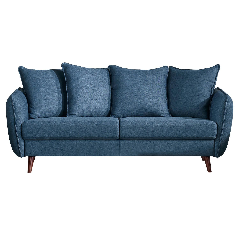 Zaria Fabric Sofa, 3 Seater, Blue