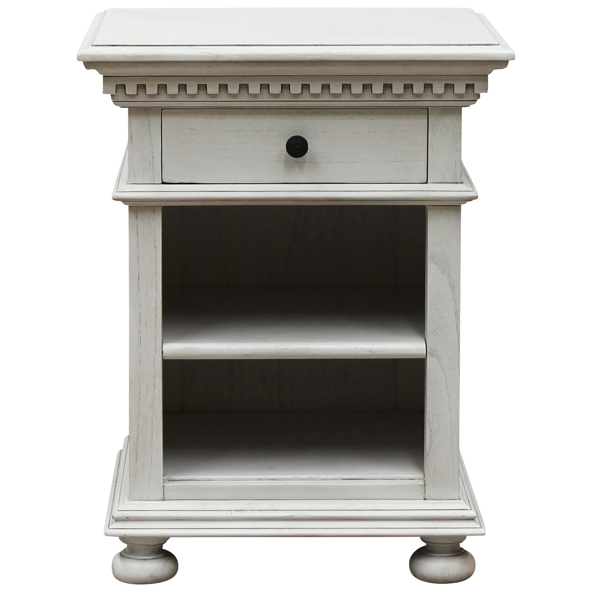 Aurelia Handcrafted Mindy Wood Bedside Cabinet