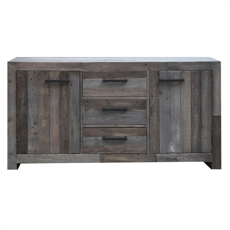 Bryson Recycled Pine Timber 2 Door 3 Drawer 160cm Buffet Table