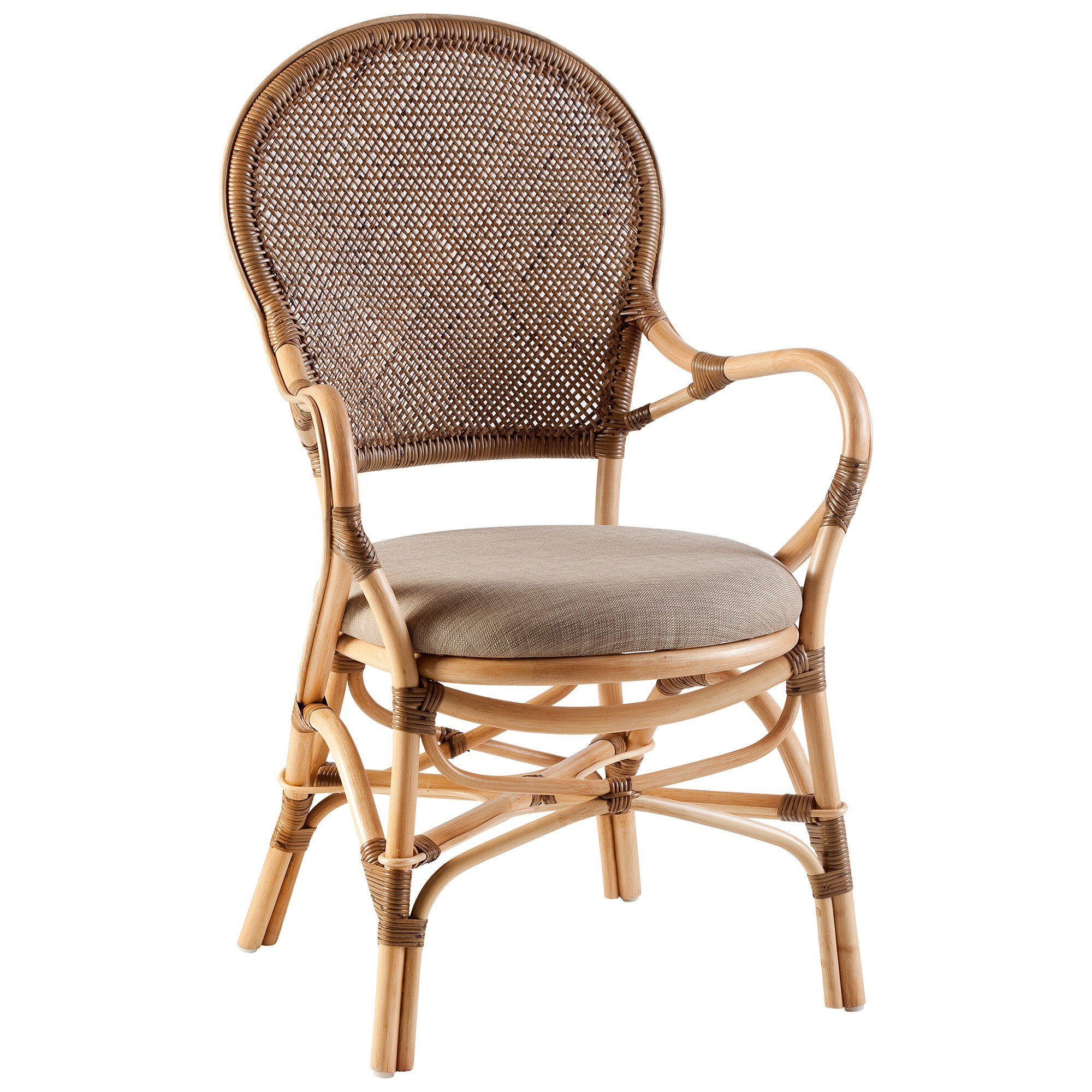 Mariot Hand Crafted Rattan Dining Armchair