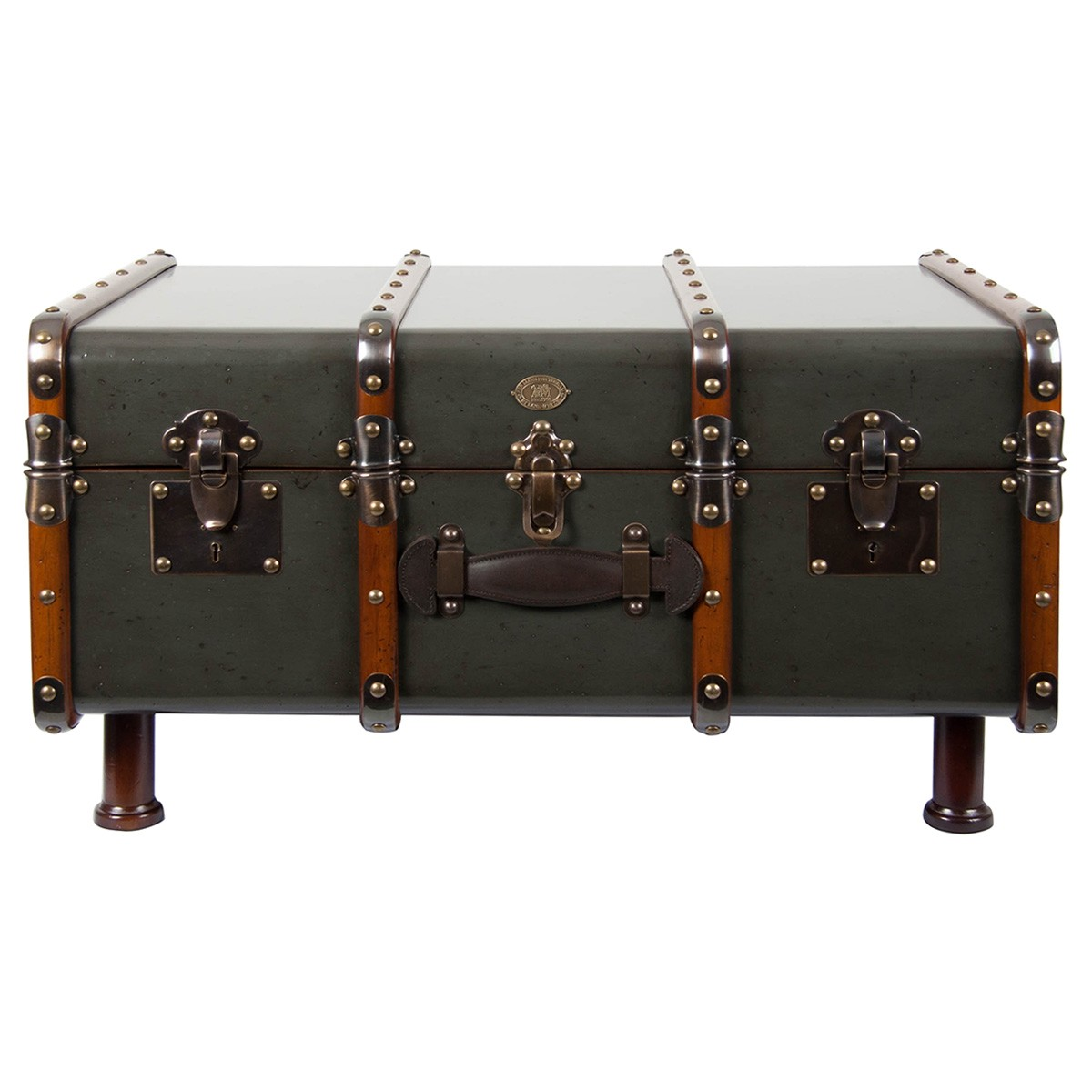 Stateroom Solid Timber Trunk Table, Gun Metal
