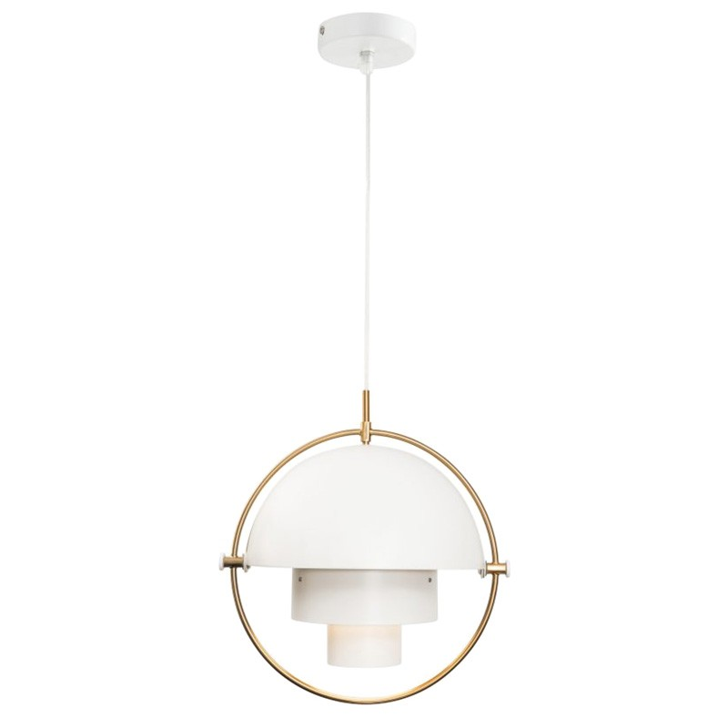 Ambrose Metal Pendant Light, White