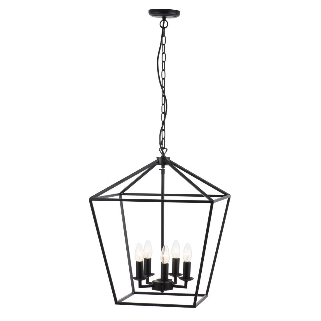 York Metal Lantern Pendant Light, Medium