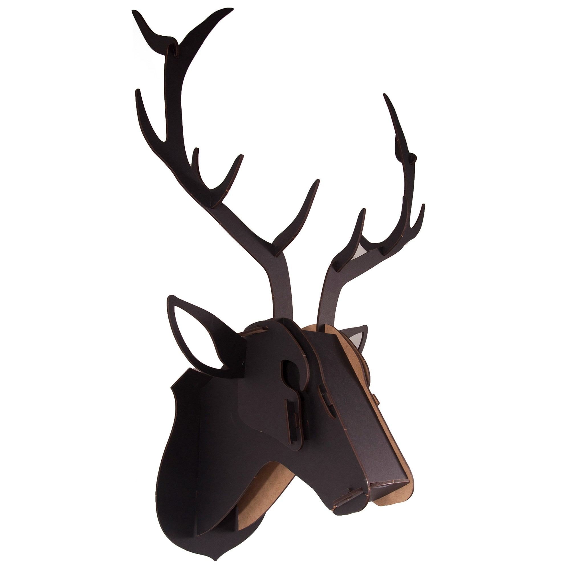 Safari DIY 3D Puzzle Wall Decor, Deer, Small, Black