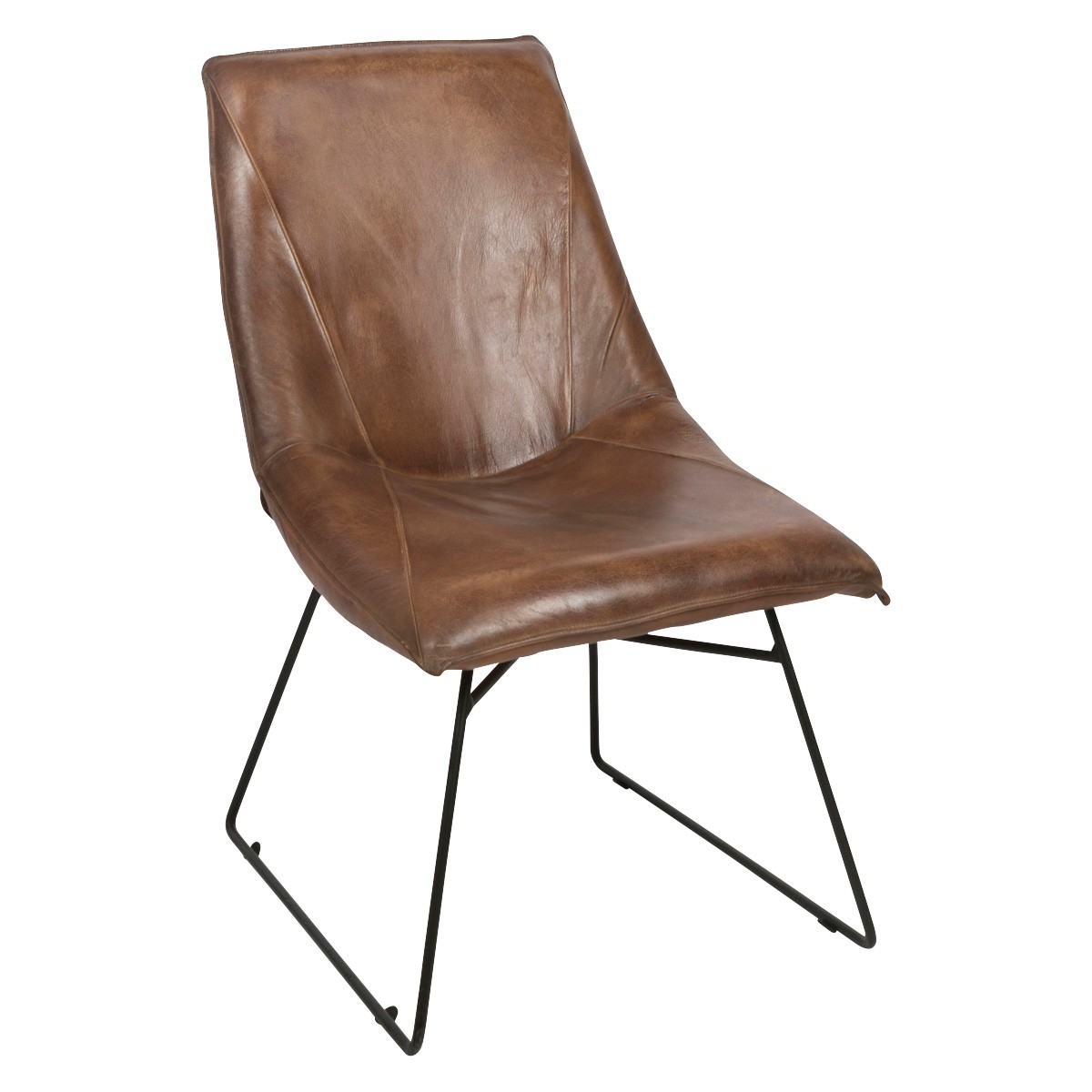 Manor Leather Occasional Lounge Chair, Tan