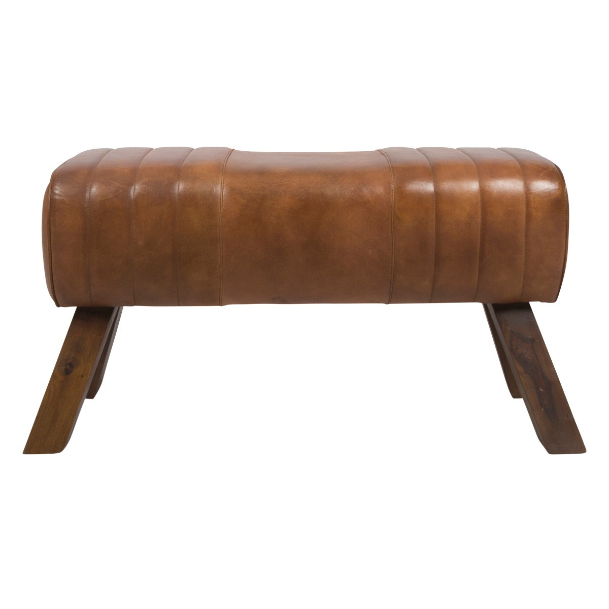 Chelsea Leather Ottoman Bench, 87cm