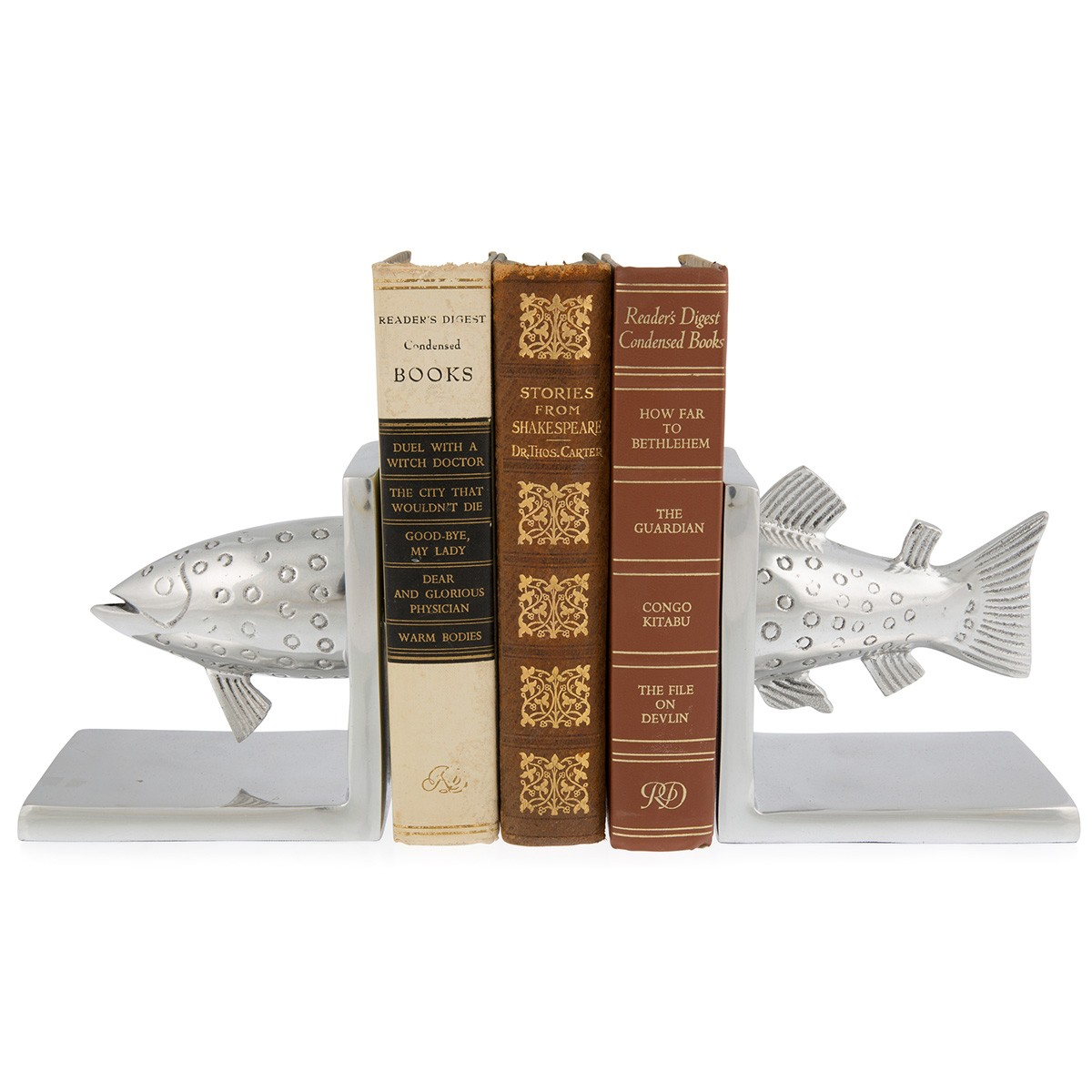 Hugo Aluminium Salmon Bookend Set