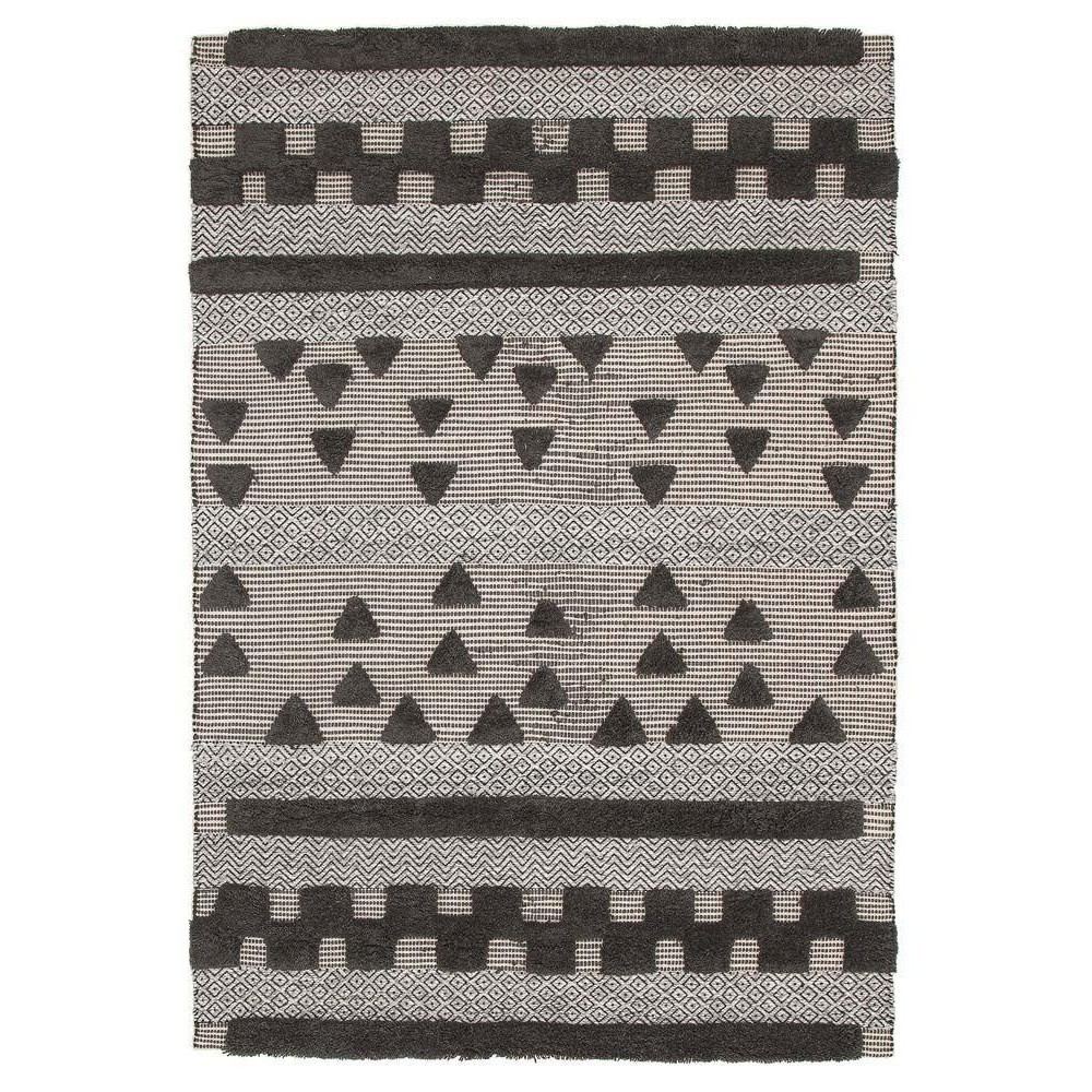 Rhythm Swing Hand Loomed Wool Rug, 300x400cm, Charcoal