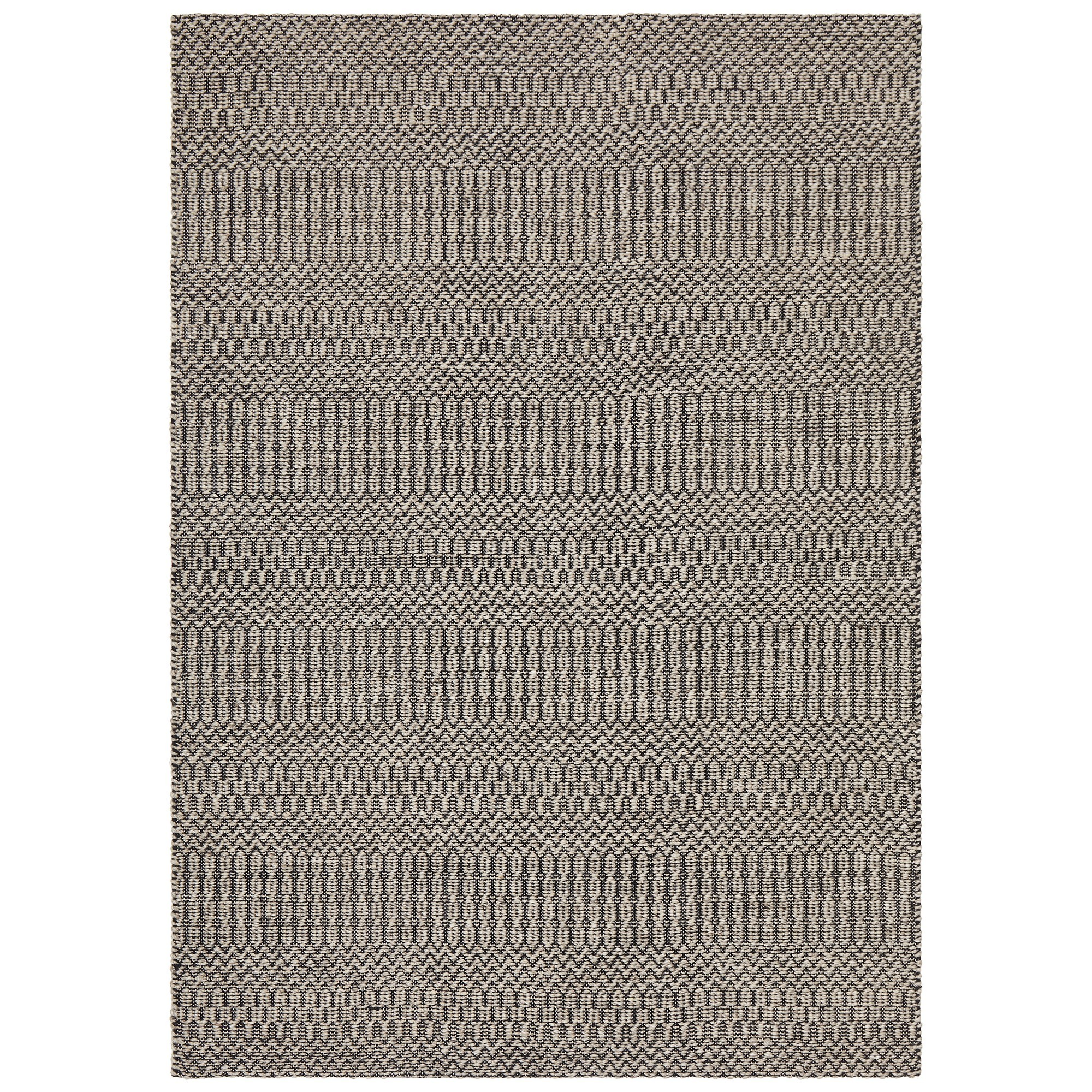 Rhythm Tune Hand Loomed Wool & Cotton Rug, 230x320cm, Grey