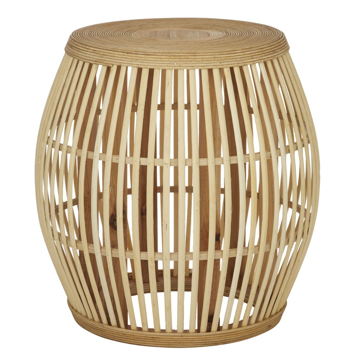 Olivia Bamboo Drum Stool