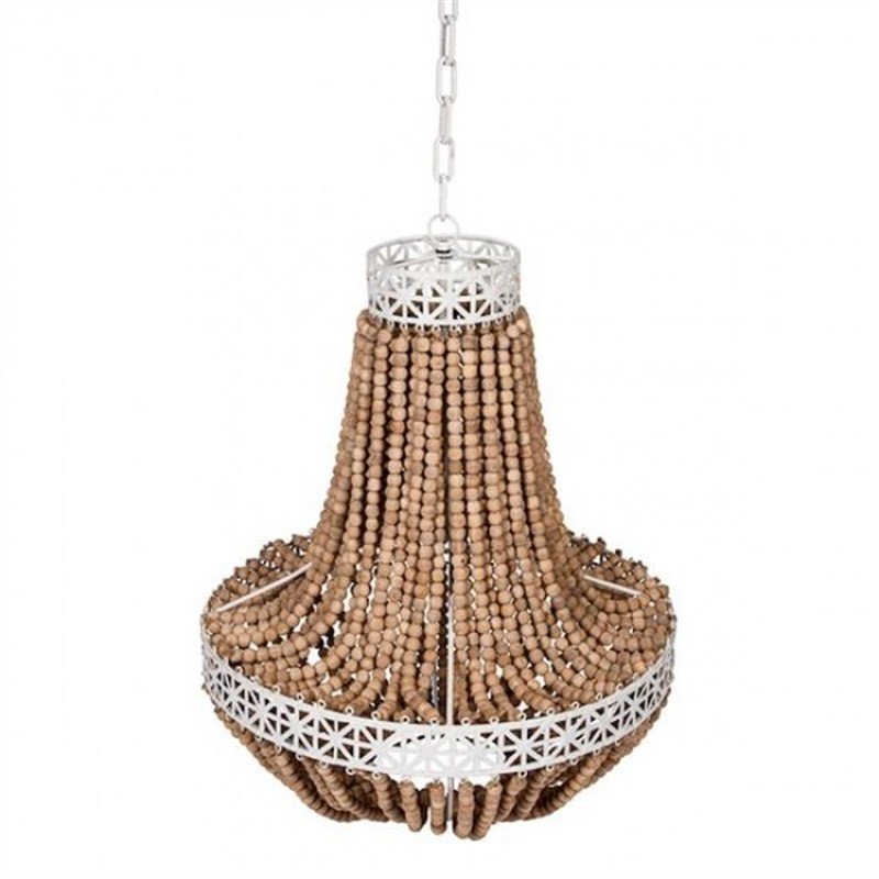 Dacre Timber Beaded Pendant Light