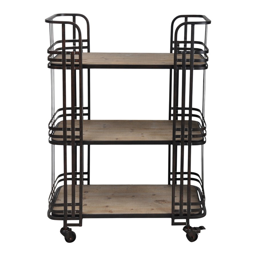Tosh Timber & Metal Bar Cart