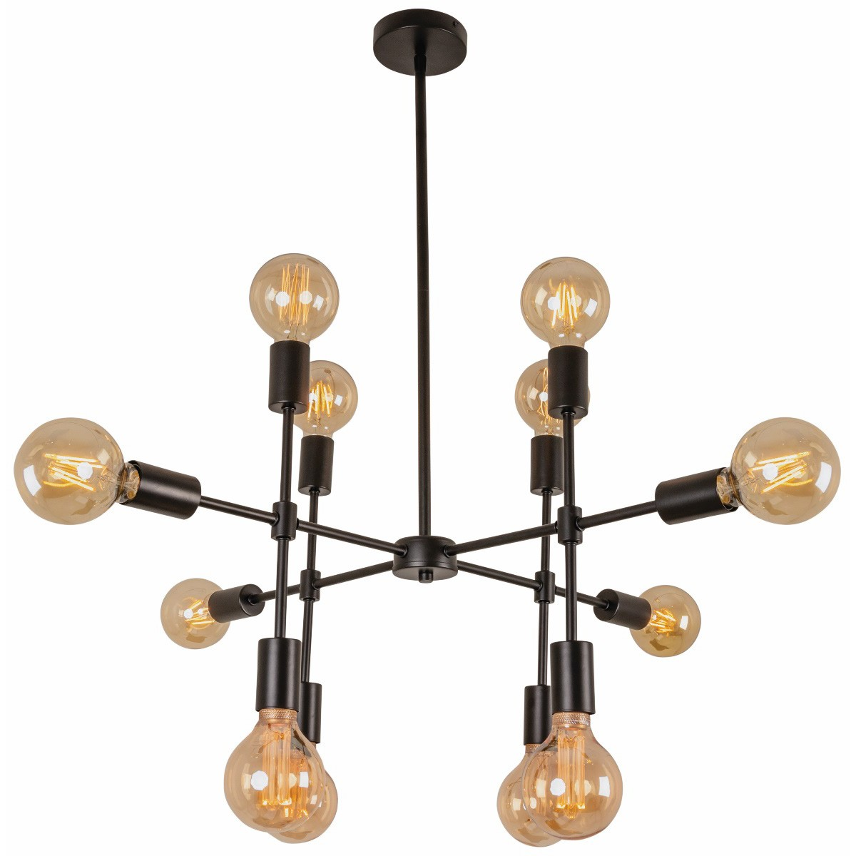 Newton Metal Pendant Light, 12 Light