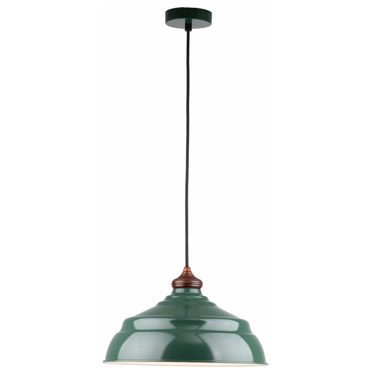 Marley Metal Pendant Light, Gloss Green