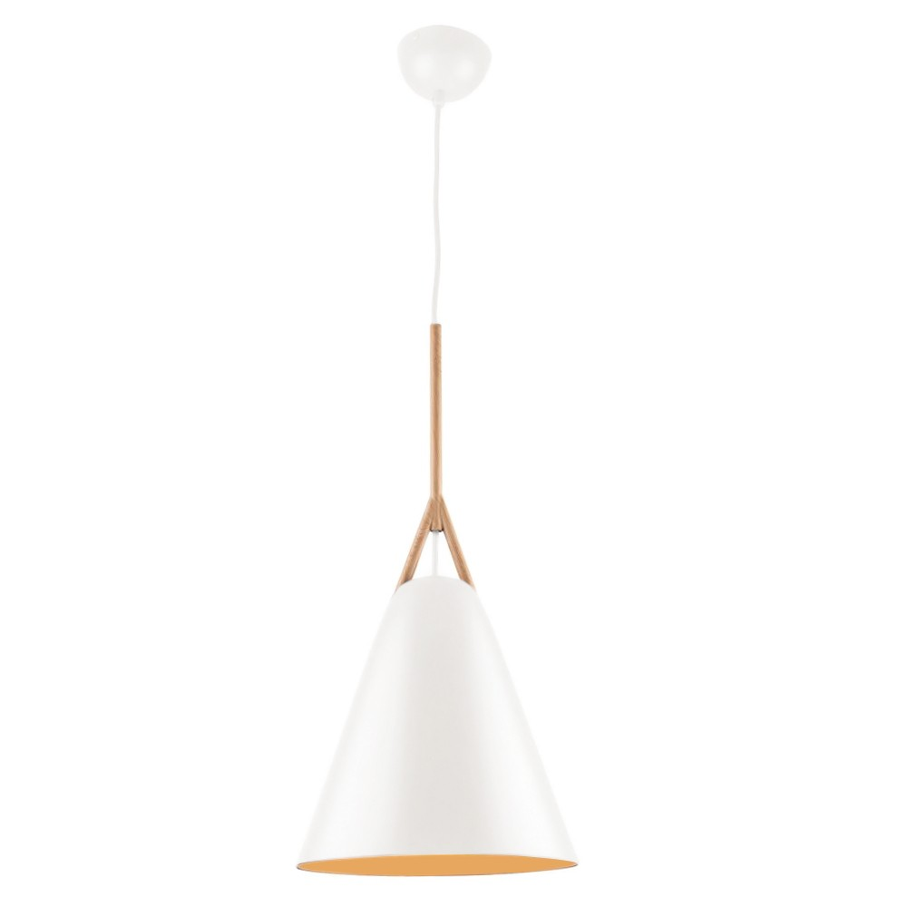 Byron Metal Pendant Light, Small, White
