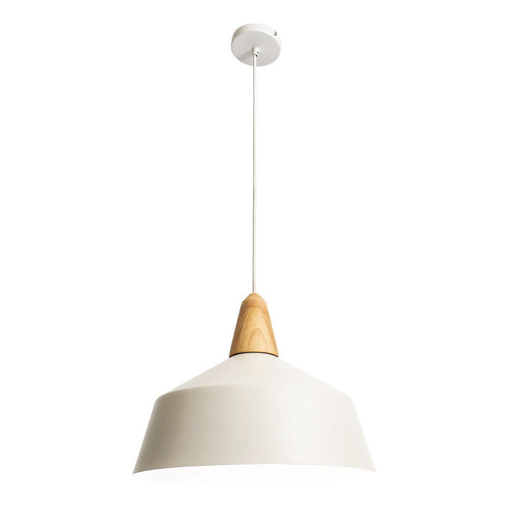 Noel Metal Pendant Light, Large, White