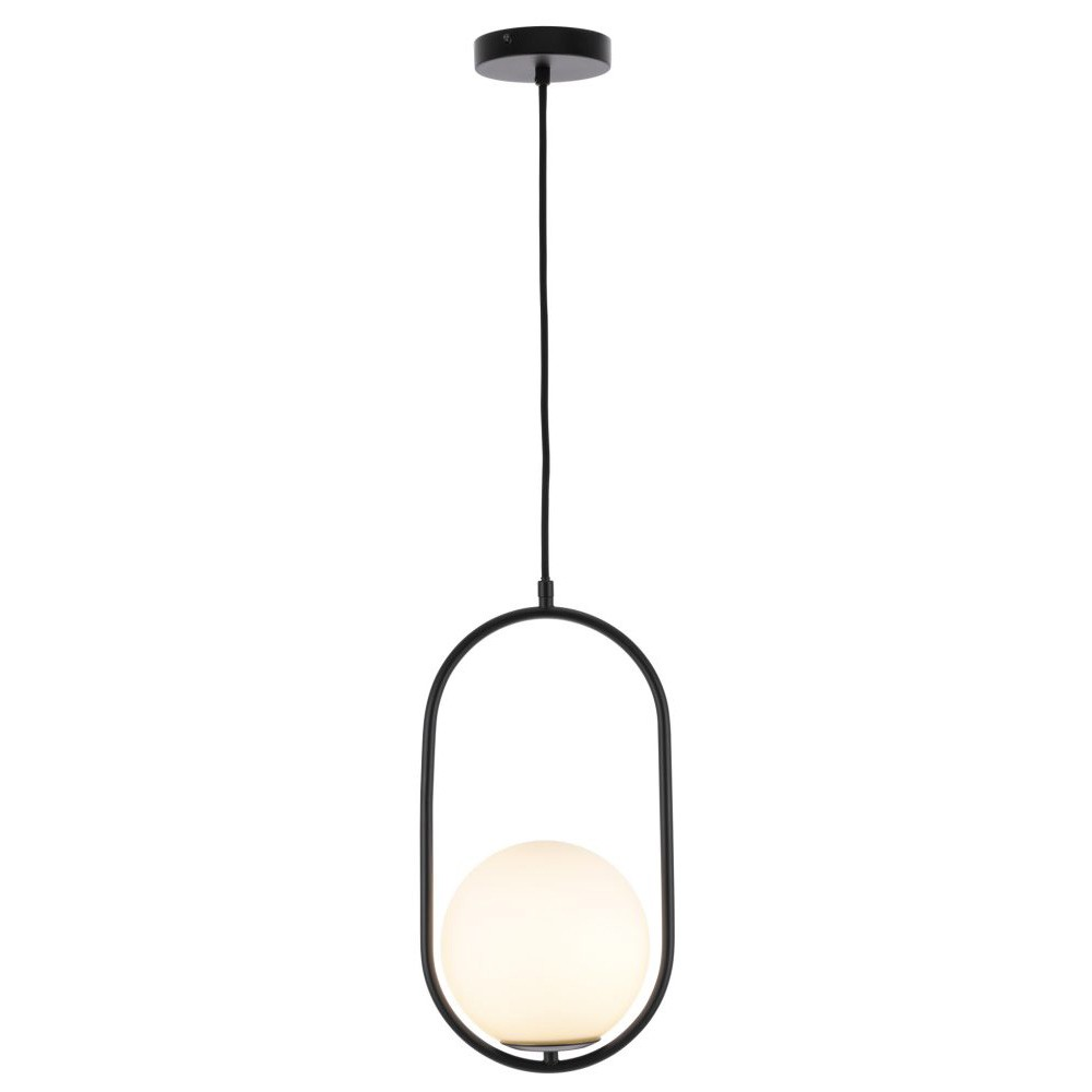 Ava Metal Pendant Light, Black