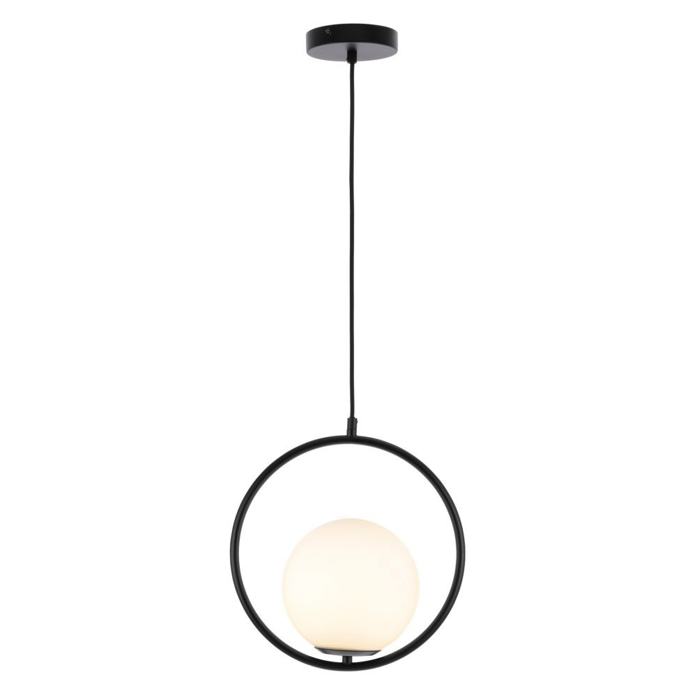 Edith Metal Pendant Light, Black