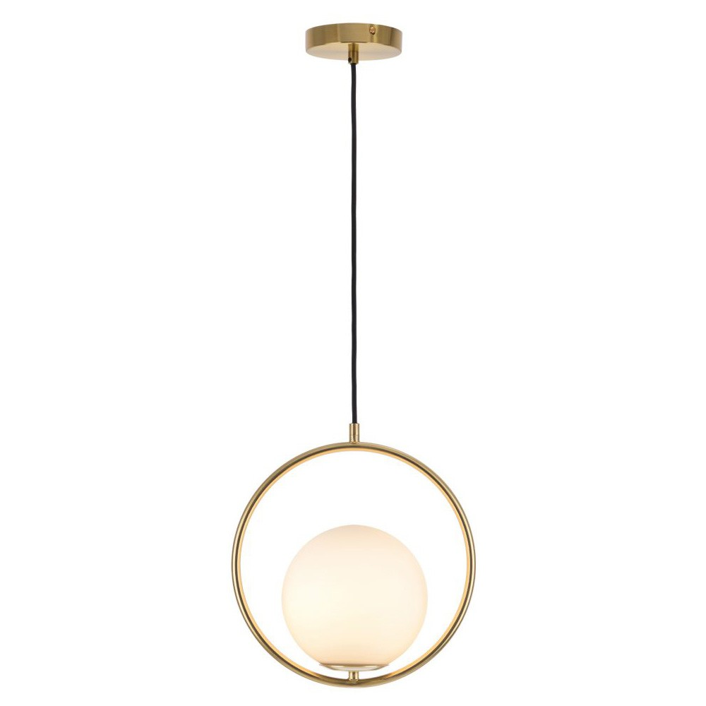 Edith Metal Pendant Light, Brass