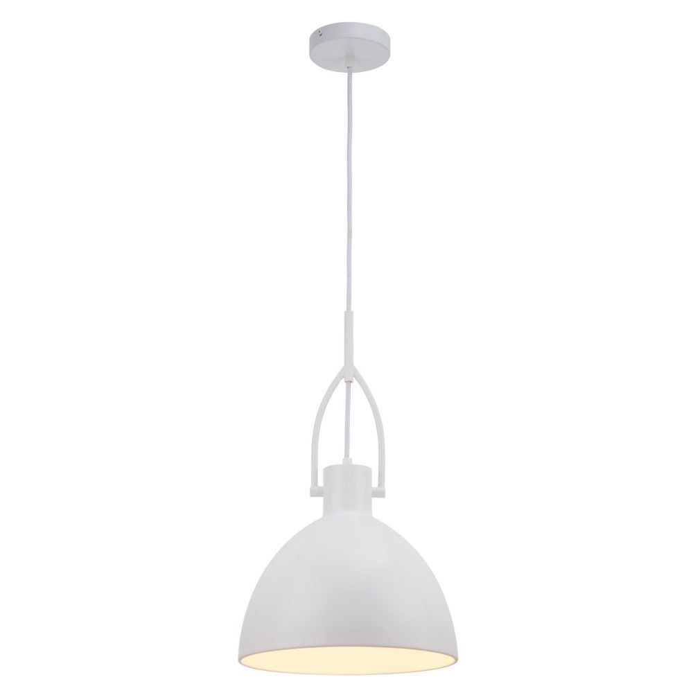 Terrence Metal Industrial Pendant Light, White